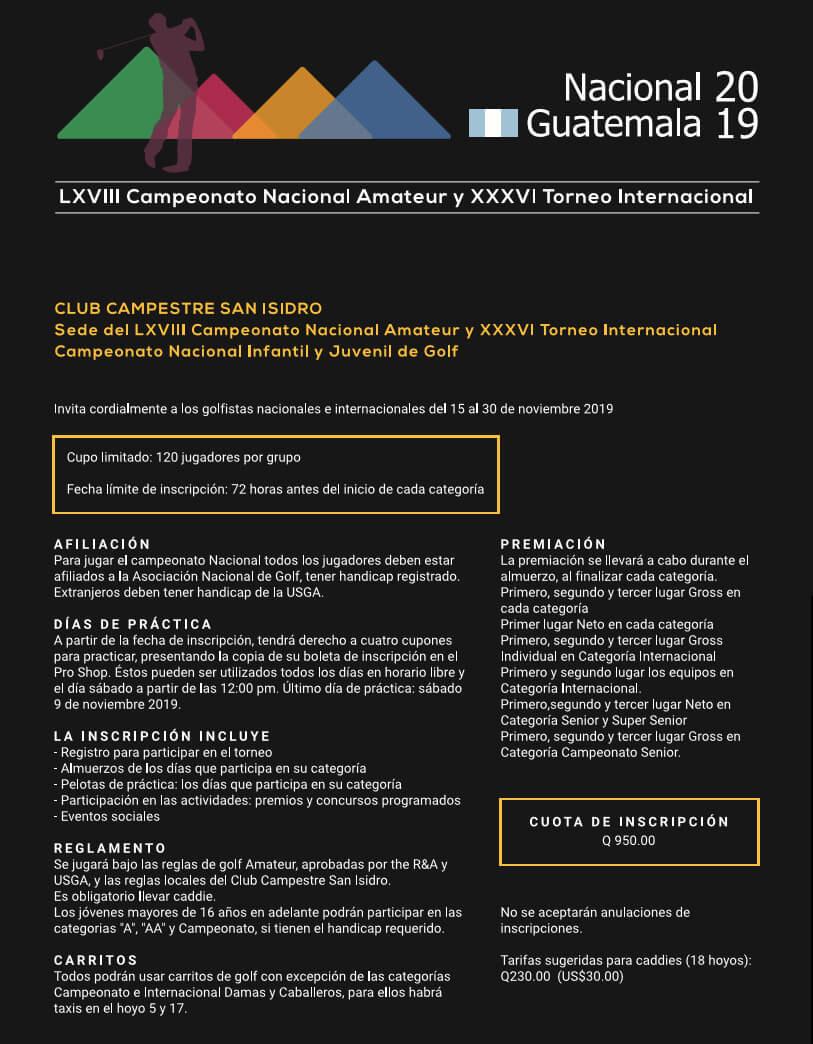 NACIONAL DE GOLF 2019