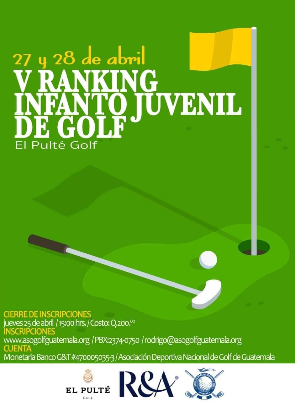 V Ranking Infanto Juvenil de Golf