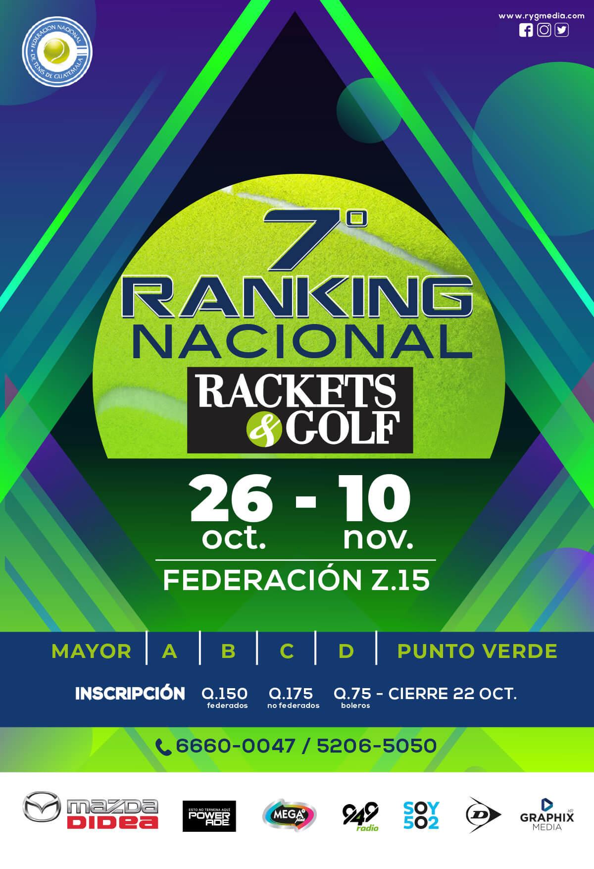 VII Ranking Nacional de Tenis