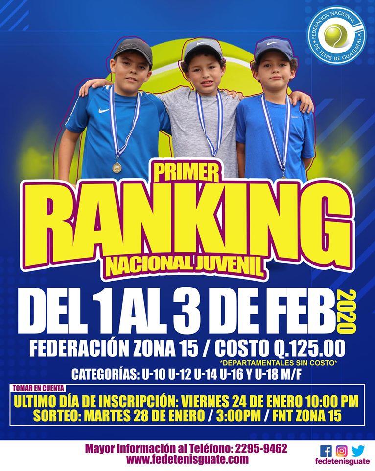 1er Ranking Juvenil de Tenis