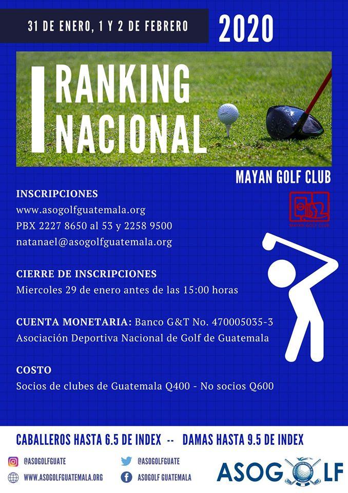 1er Ranking Nacional de Golf