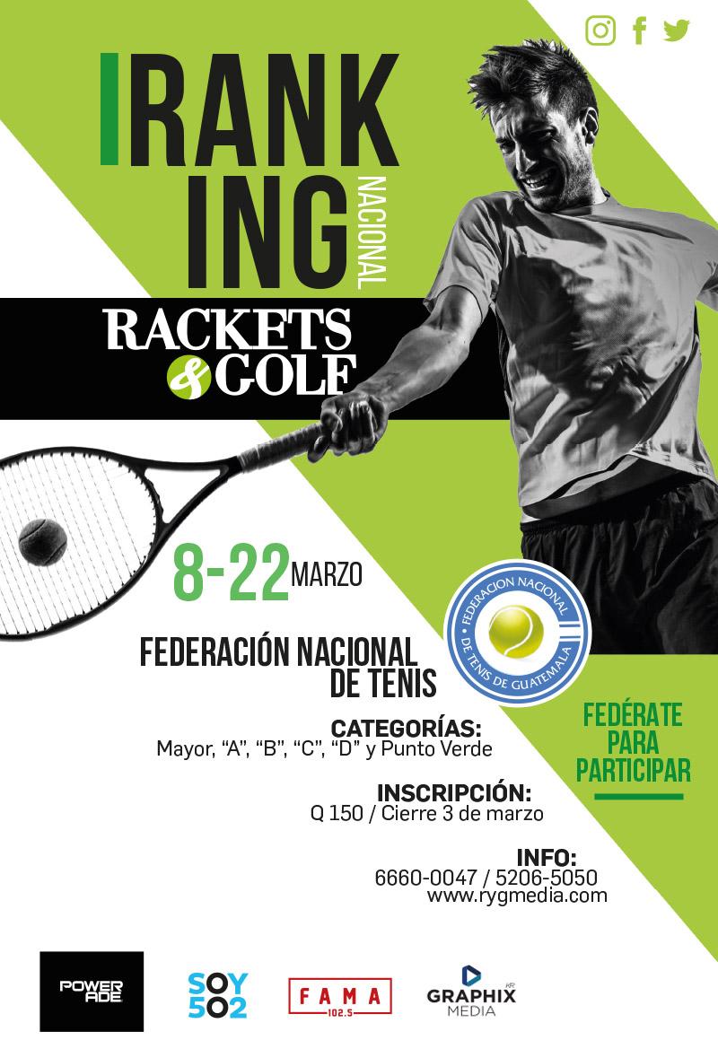 1er Ranking Nacional de Tenis